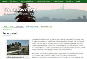 Screenshot Taunuswelten.de